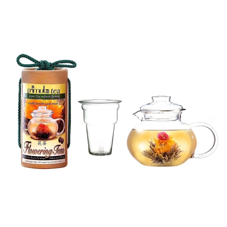 Epoca Primula Blossom Flowering Tea Gift Set, Green (Glass)
