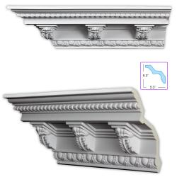 Baroque-style 7.5-inch Crown Molding (8 pieces)