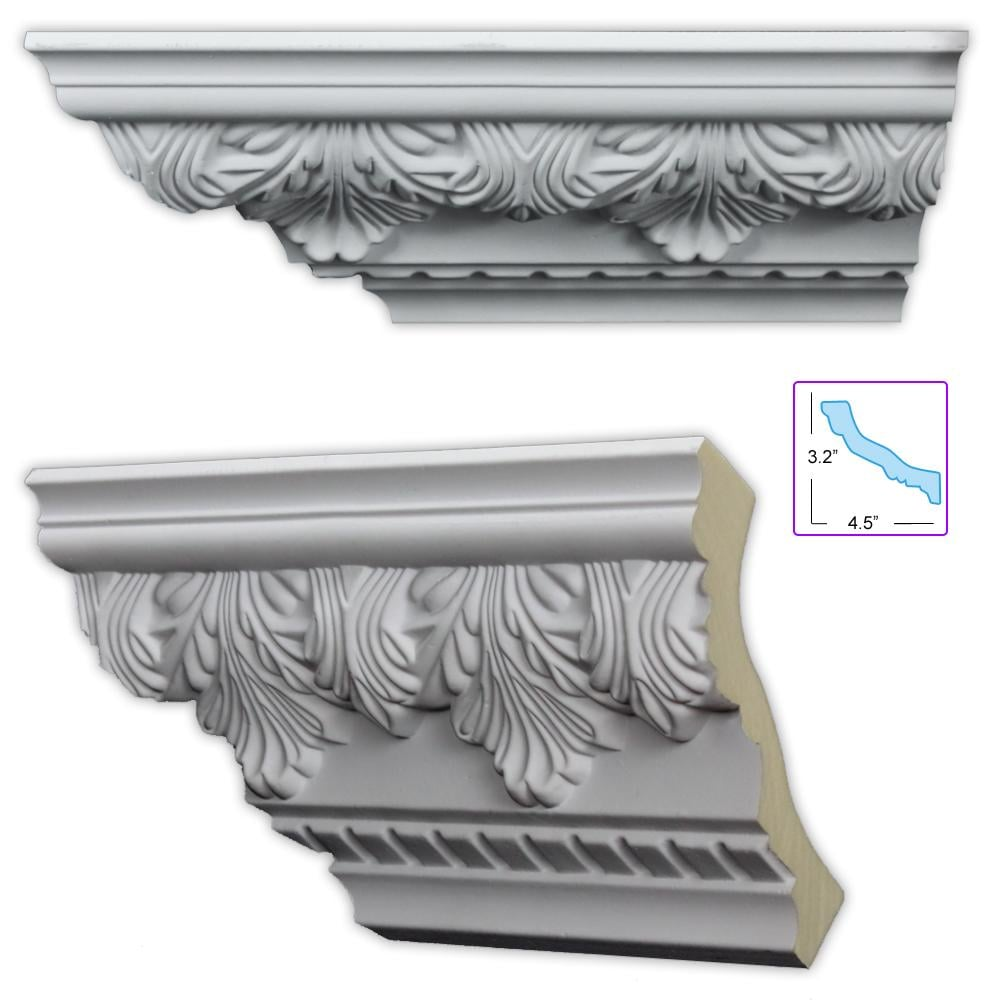Acanthus and dentil 5 5 inch crown molding 8 pack free for 9 inch crown molding