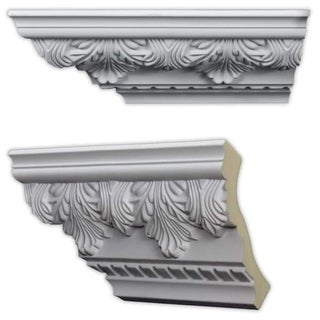 Acanthus and Dentil 5.5-inch Crown Molding (8 pack)