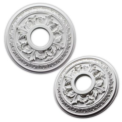 uDecor Acanthus 15.5-inch Ceiling Medallion