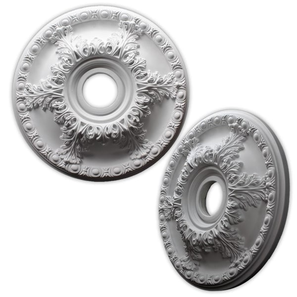Acanthus Leaf and Egg 19-inch Ceiling Medallion
