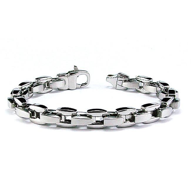 High-Polish Stainless-Steel Men's Link Bracelet