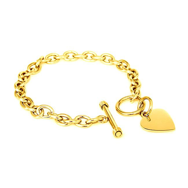 Goldplated Stainless Steel Charm Bracelet
