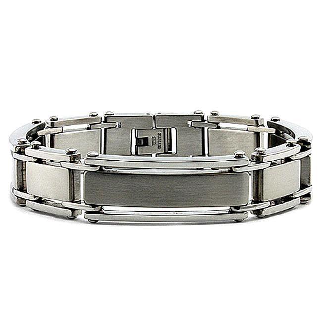 Stainless Steel Men's Brushed and Polished Bracelet