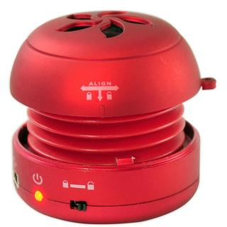 Pyle Bass Expanding Red Rechargeable Mini Speaker for iPod/ iPhone/ MP3