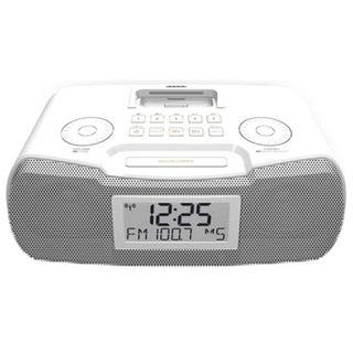 Sangean RCR-10 Desktop Clock Radio - 8 W RMS - Stereo - Apple Dock In