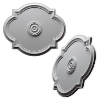 Elliptical 20.5x24-inch Ceiling Medallion