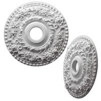 Single Floral Wreath 18-inch Ceiling Medallion