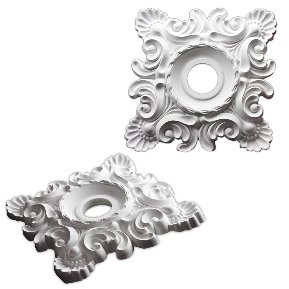 Square Parisian Scroll 18-inch Ceiling Medallion