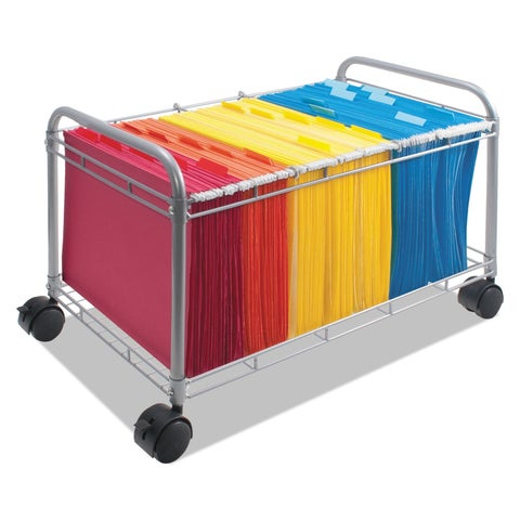 Vertiflex Smartworx Companion Steel and Wire Mobile File Cart
