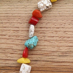 Silverplated 'Tribal Rainbow' Turquoise and Jade Necklace