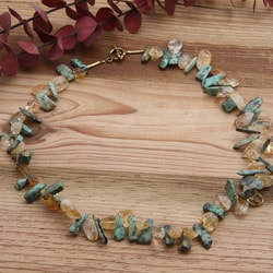 Silverplated 'Arizona Sunshine' Turquoise and Citrine Necklace