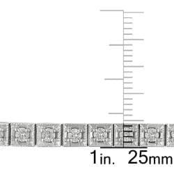 Miadora 14k White Gold 2 5/8ct TDW Diamond Tennis Bracelet (G-H, SI1-SI2) - Thumbnail 2