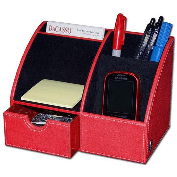 Daco Leather Desktop Organizer