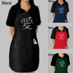 Los Angeles Pop Art Chinese Love Symbol Kitchen Apron