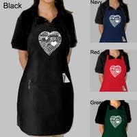 Los Angeles Pop Art Heart Kitchen Apron