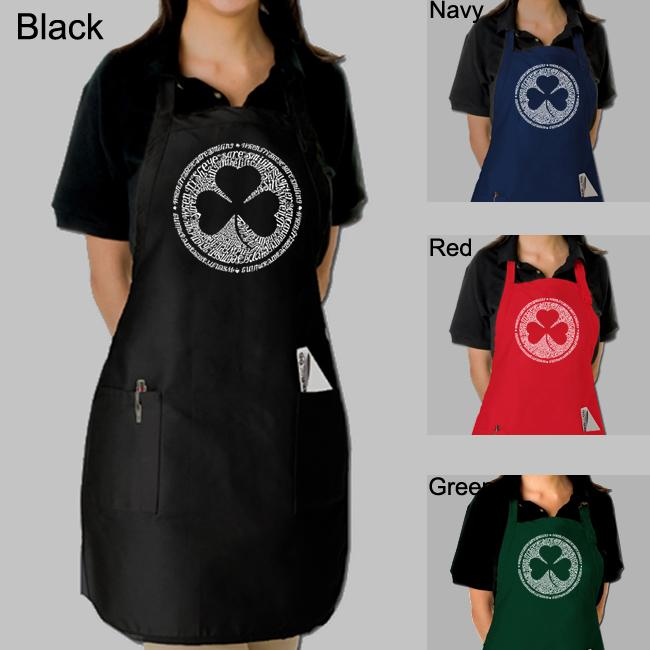 Los Angeles Pop Art Irish Eyes Kitchen Apron - Thumbnail 0