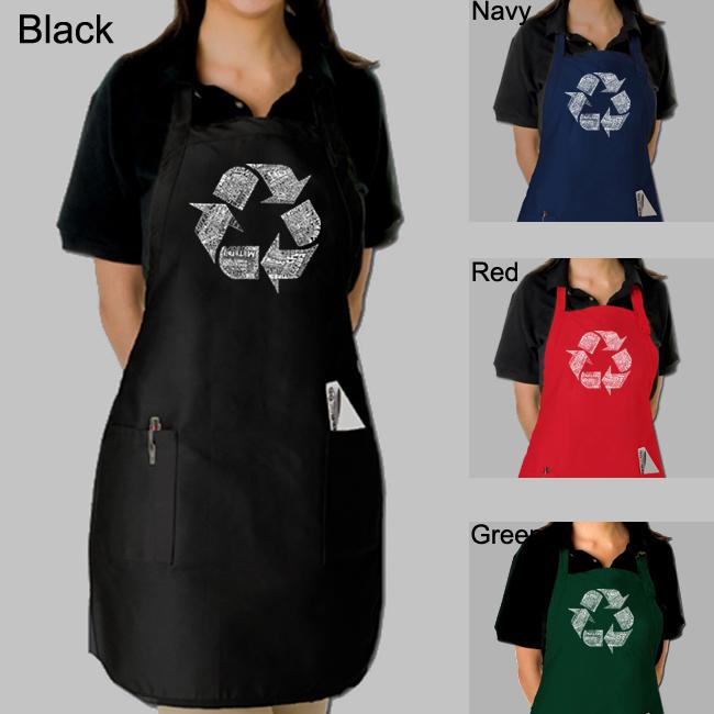 Los Angeles Pop Art Recycle Kitchen Apron