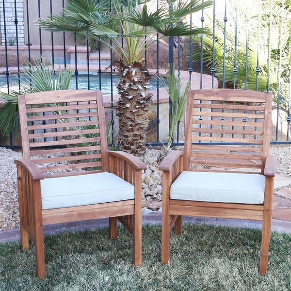 Amazing Acacia Wood Patio Chairs (Set Of 2)