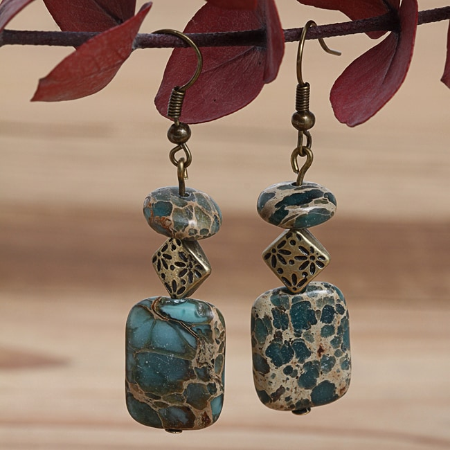 Goldplated Heaven Sent Variscite Earrings