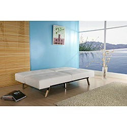Jacksonville White Foldable Futon Sofa Bed - Thumbnail 2