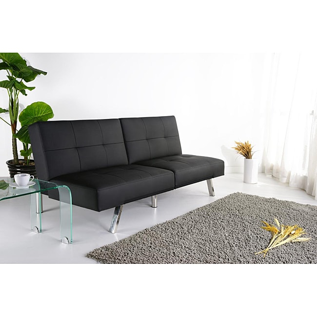 Jacksonville Black Foldable Futon Sofa Bed - Free Shipping ...