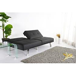 Jacksonville Black Foldable Futon Sofa Bed - Thumbnail 1
