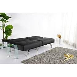 Jacksonville Black Foldable Futon Sofa Bed - Thumbnail 2