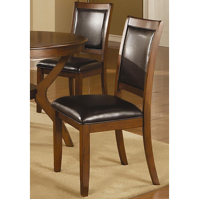 Leahlyn Reddish Brown Arm Chair Set Of 2: Shop Sierra Brown Walnut Dining Chairs (Set Of 2)