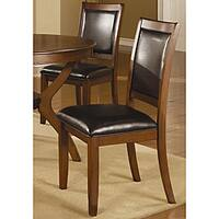 Sierra Brown Walnut Dining Chairs (Set of 2)