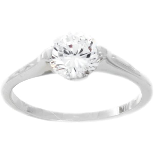 NEXTE Jewelry Silvertone or Goldtone Cubic Zirconia Solitaire Ring