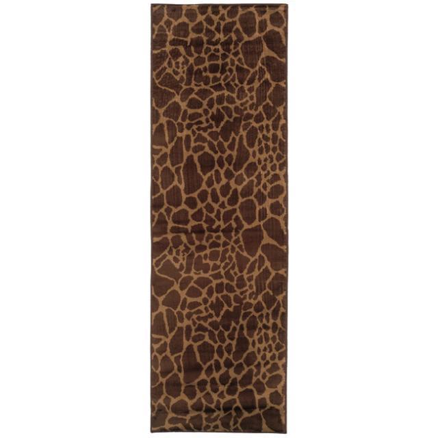 Indoor Brown Animal Rug (2'6 x 7'9)