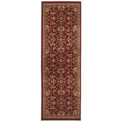 Indoor Red Floral Rug (2'6 x 7'9)