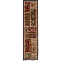 Indoor Beige Floral Rug (1'10 x 7'6)