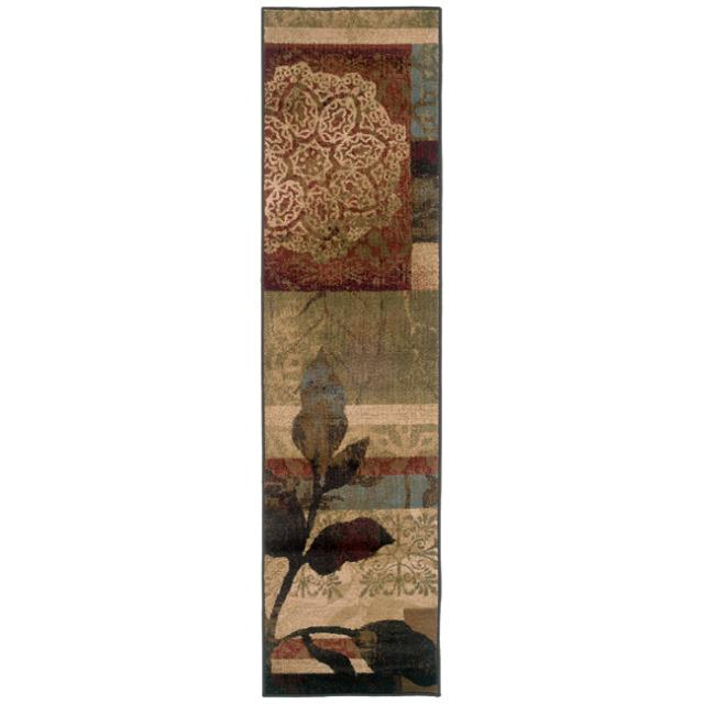 Indoor Geometric Ivory Rug (1'10 x 7'6)