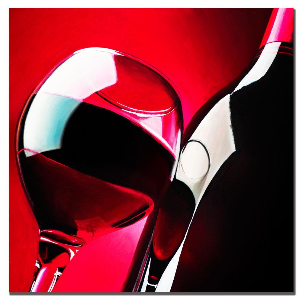 Roderick Stevens Red Wine Canvas Art