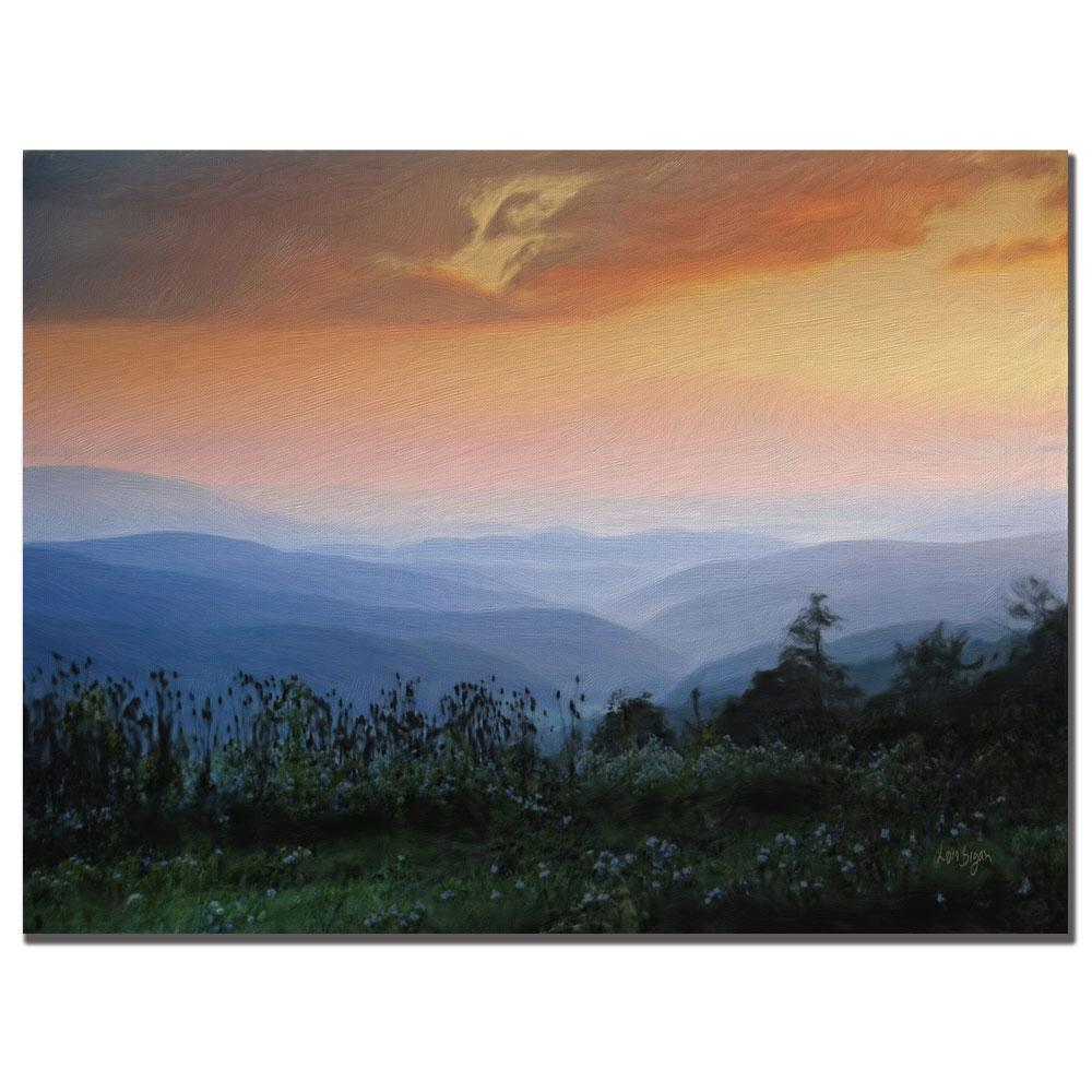 Lois Bryan 'Sunrise in the Mountain' Canvas Art