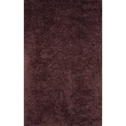Handmade Brown Wool Rug - 5' x 8'
