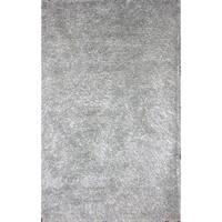 Handmade Blue Wool Shag Rug - 5' x 8'