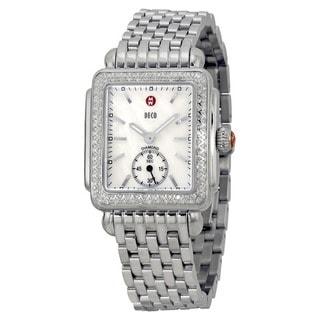 Michele Women's MWW06V000001 'Deco 16' Diamond Silver Stainless Steel Watch