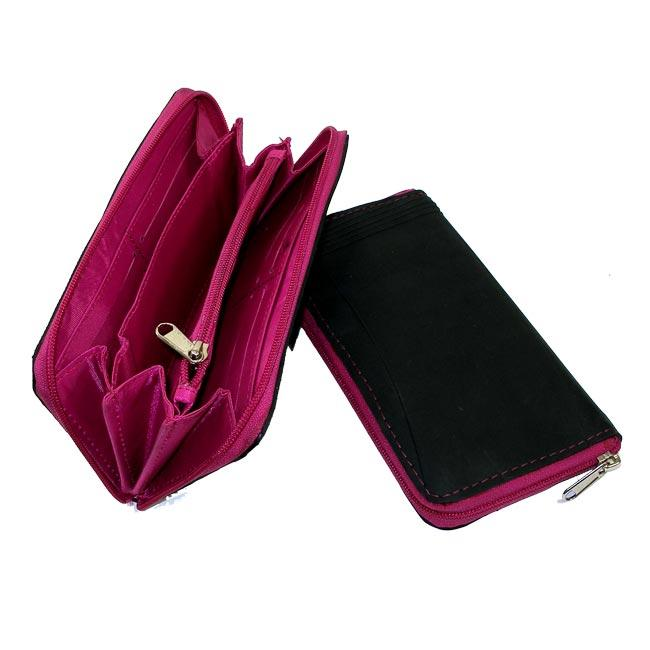 Recycled Inner Tube Pink Vicky Wallet (India)