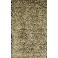 Handmade Green Shag Wool Rug (8' x 10')