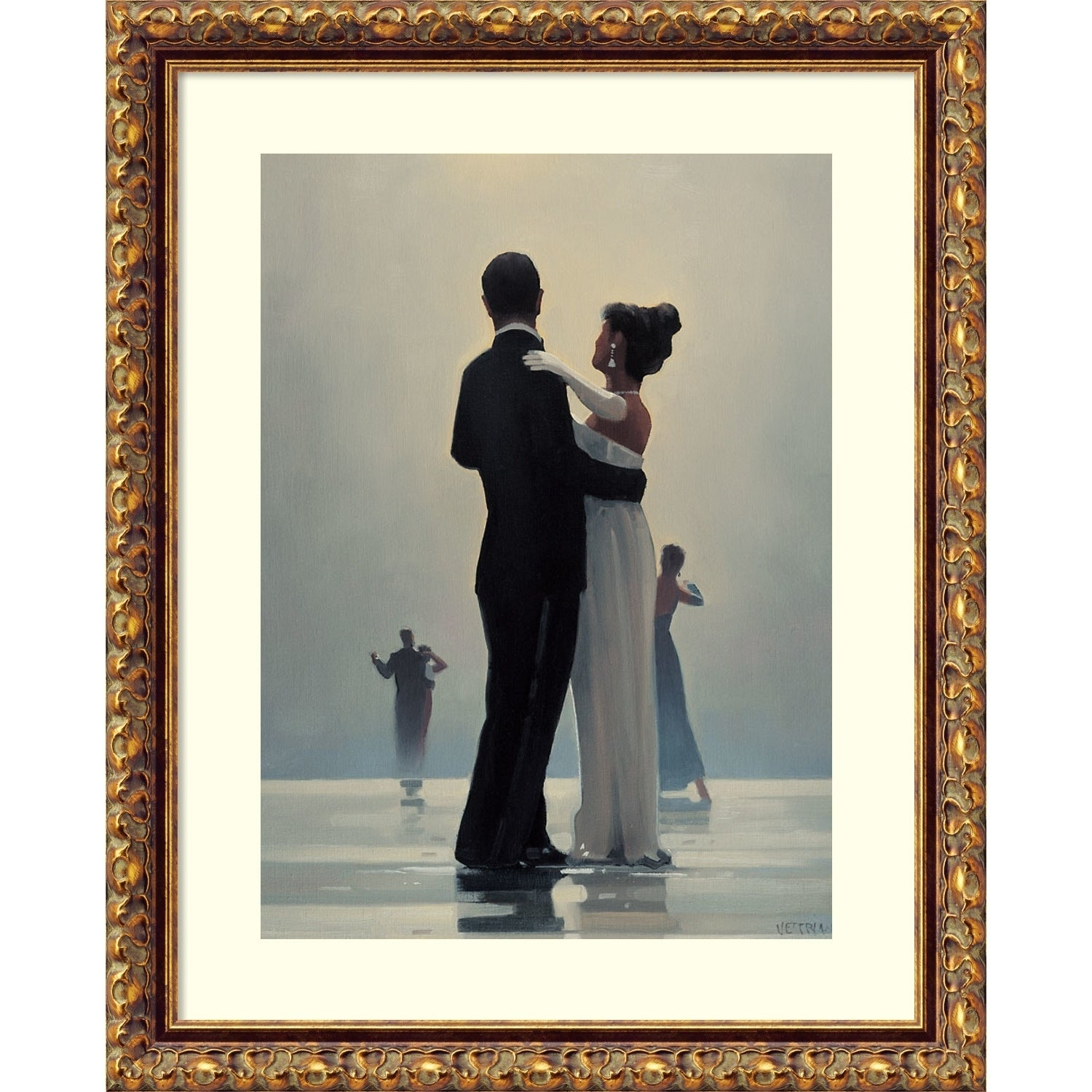 Jack Vettriano In Thoughts of You Mounted Art Print Special Offer NEW