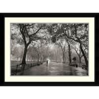 Framed Art Print 'Poet's Walk' by Henri Silberman 35 x 26-inch