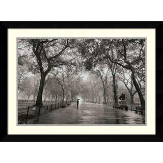 Framed Art Print 'Poet's Walk' by Henri Silberman 35 x 26-inch