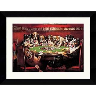 Framed Art Print 'Poker Sympathy' by C.M. Coolidge 27 x 21-inch