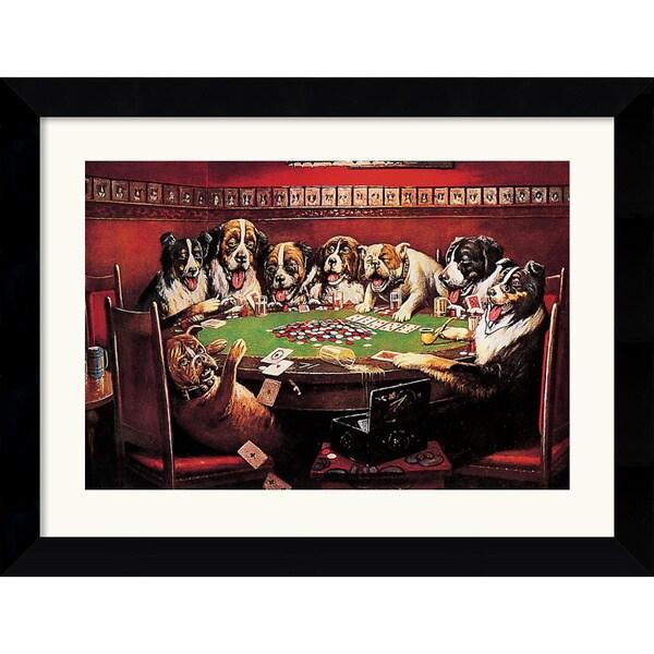 C.M. Coolidge 'Poker Sympathy' Framed Art Print