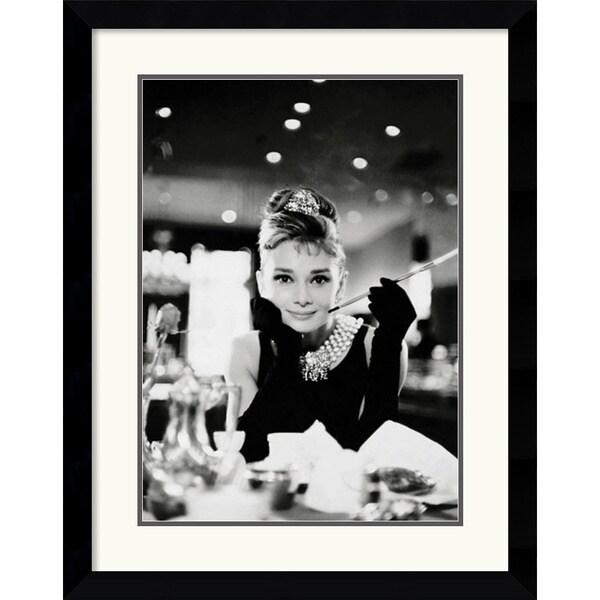 Audrey hepburn breakfast at tiffany 39 s 39 framed art print for Ikea audrey hepburn