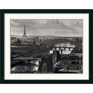 'Views of Paris The River Seine' Framed Art Print